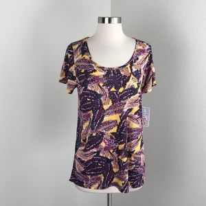 NEW LuLaRoe abstract feathers Classic T top